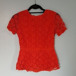 C Wonder Red Top with Zipper Detail